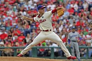 Starting pitcher David Buchanan #55 of the Philadelphia Phillies