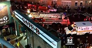 Emergency crews respond to elevator fall at Fenway Park in Boston