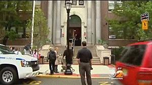 George Washington School in Union City following a lockdown