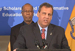 Gov. Christie announcing his support for NJ-STEP Youtube
