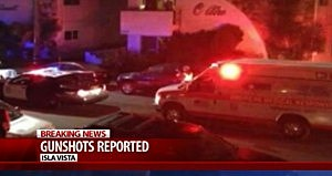 Police respond to a drive by shooting in Santa Barbara, California