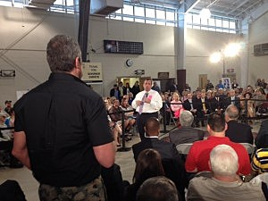Gov. Christie at town hall meeting in Manahawkin