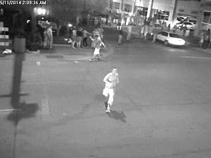 Suspect running from scene of assault on Issac Kolstad in Mankato, Minnesota