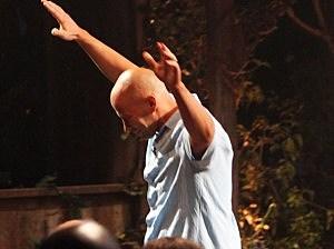 Tony Vlachos celebrates his Survivor win