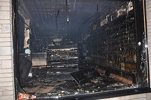 The inside of East Coast Gamers following a fire in Toms River