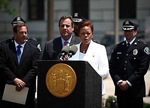 Gov. Chris Christie and Camden Mayor Dana Redd