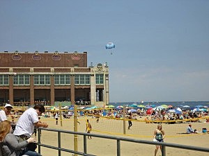 The beach in Asbury Park