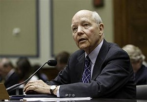 Internal Revenue Service Commissioner John Koskinen testifies under subpoena before the House Oversight Committee