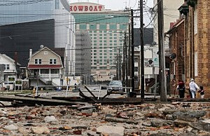 Showboat Casino in Atlantic City following Superstorm Sandy