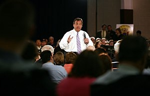 Gov. Christie speaks at a Town Hall in Manahawkin