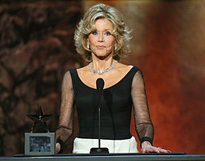 Honoree Jane Fonda  accepts her award onstage at the 2014 AFI Life Achievement Award: A Tribute to Jane Fonda at the Dolby Theatre in Hollywood