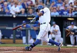 Salvador Perez #13 of the Kansas City Royals