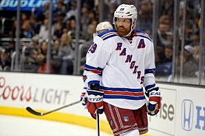 Brad Richards #19 of the New York Rangers