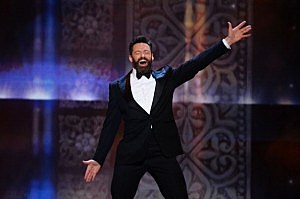 Host Hugh Jackman performs onstage during the 68th Annual Tony Awards at Radio City Music Hall