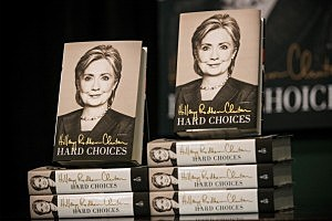 Hillary Clinton Reads From Her New Memoir In New York City