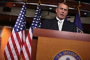 Speaker of the House Rep. John Boehner (R-OH) speaks during a news conference