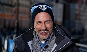 Matt Lauer at the Winter Olympics in Sochi, Russia