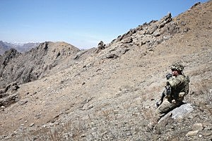 U.S. Army's 2nd Battalion 87th Infantry Regiment, 3rd Brigade Combat Team, 10th Mountain Division on patrol in Afghanistan