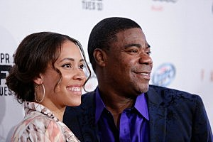 Comedian Tracy Morgan and his fiancee Megan Wollover