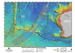In this map provided by the Joint Agency Coordination Centre, details are presented in the search for the missing Malaysia Airlines Flight 370 in the southern Indian Ocean (