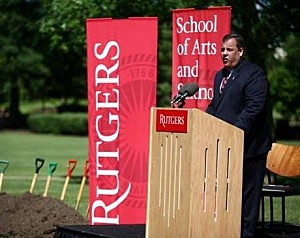 Gov. Chris Christie at Rutgers