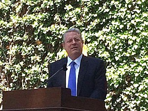Former Vice President Al Gore speaks at Princeton University Class Day