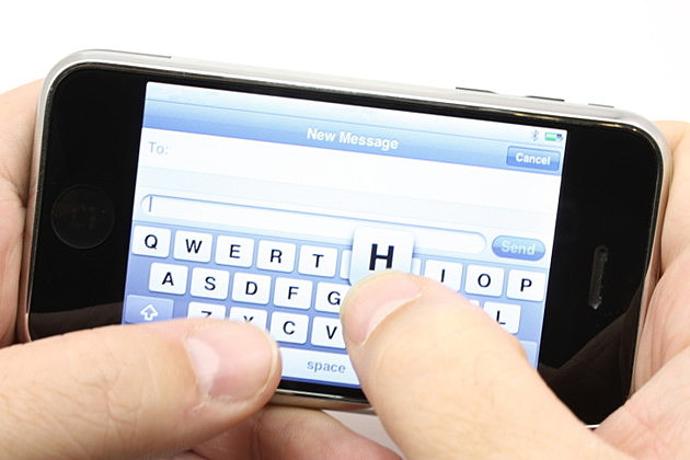 Texting on a touch screen phone