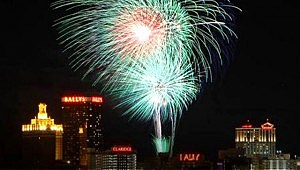 Fireworks over Atlantic City