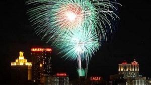 Fireworks over Atlantic City
