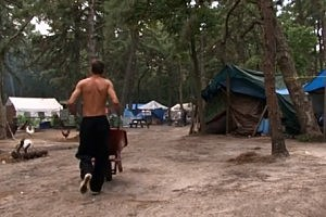 "Lakewood's Tent City as seen in the movie ""Destiny's Bridge"" (YouTube)"