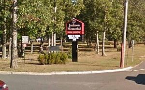 Entrance to Jackson Memorial High School