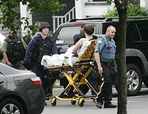 A Mahwah man is taken from his residence after holding police at bay for several hours