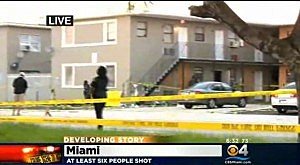 Scene of shooting in Miami's Liberty City section