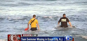Rescuers search the water off Ocean City for a missing boy