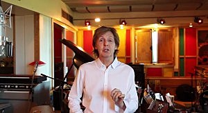 Screen shot from Paul McCartney's video