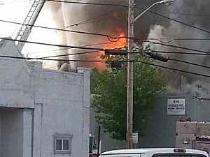 Fire on Union Avenue in Union Beach