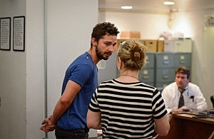 Shia LaBeouf (L), is arraigned in Midtown Community Court