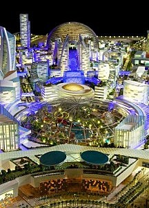 An artist rendition of the planned Mall of the World project in Dubai.