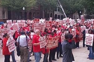 CWA Protest