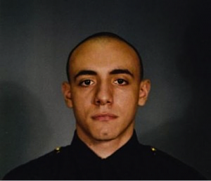 Jersey City police officer Melvin Santiago (AP Photo/Jersey City Mayor's office)