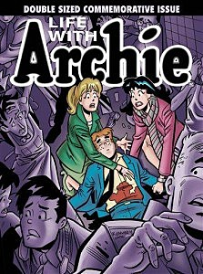 "The cover of the comic book, ""Life with Archie."" i"