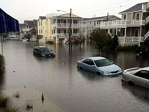 Flooding on 32nd Street in Ocean City