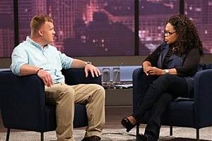 Matt Sandusky, the adopted son of former Penn State University assistant football coach Jerry Sandusky, during an interview with Oprah Winfrey,