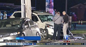 Accident involving two police cruisers on Route 9 in Beachwood