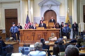 Gov. Christie addresses the legislature about bail reform