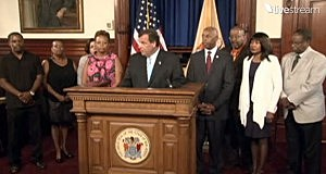 Gov. Christie makes a statement about bail reform