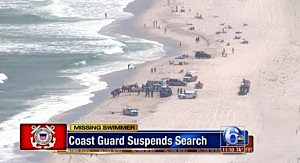 Rescue operation at Island Beach State Park