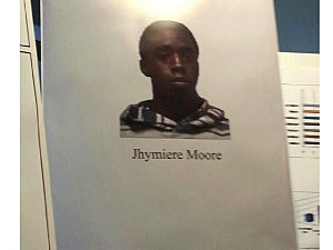 Poster of shooting suspect Jhymiere Moore
