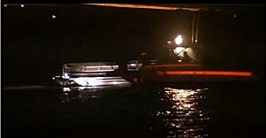 Pontoon boat that struck a buoy off Longport