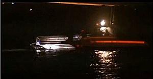 Pontoon boat that struck a buoy off Longport